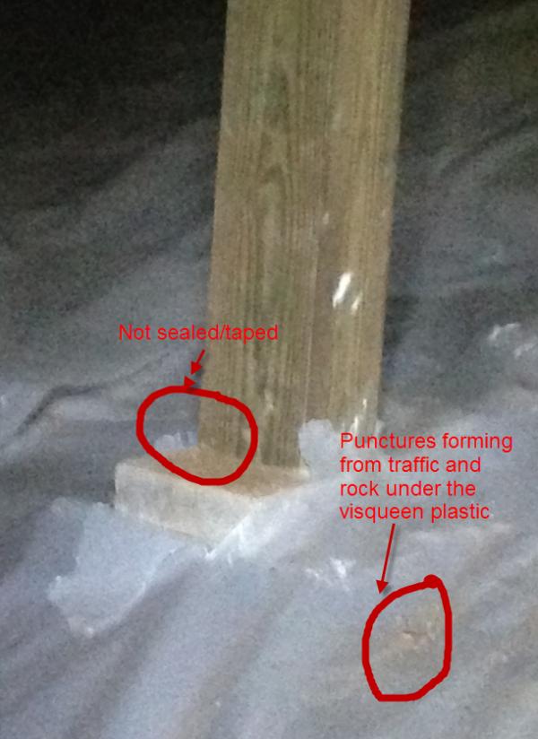 Crawl Space Vapor Barrier Encapsulation Tips