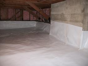 Crawl Space Vapor Barrier Basement Liner For Encapsulation