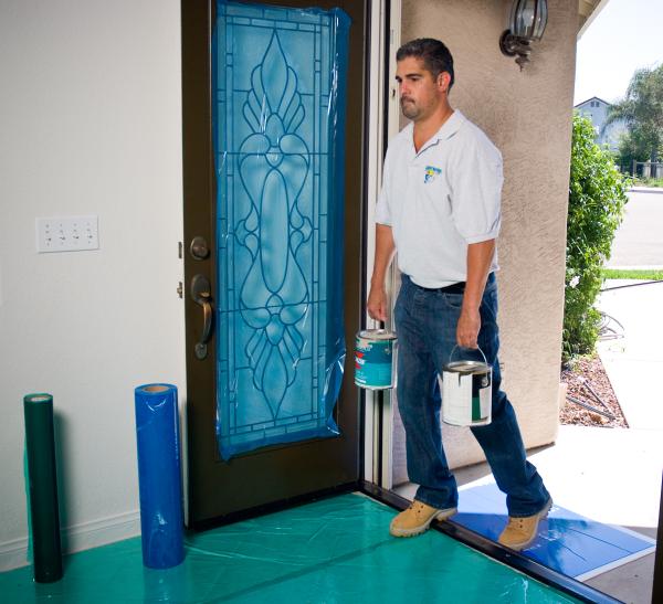 Floor Plastic Protection - Polyethylene Sheeting