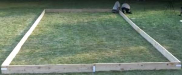 How To Make Backyard Ice Rink ice rink frame- iron sleek