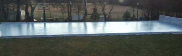 iron sleek backyard rink