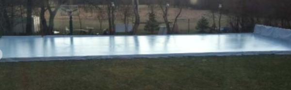 iron sleek backyard rink