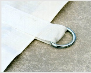 D Ring for plastic sheeting