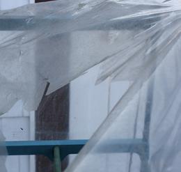 Greenhouse plastic tears
