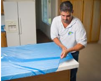 plastic sheeting for counter