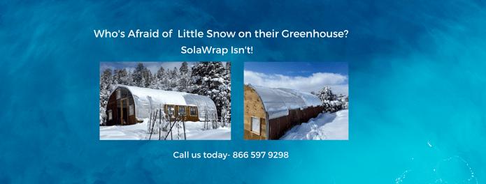 Greenhouse Plastic in Snow