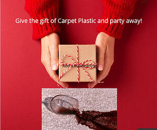 Carpet plastic gift