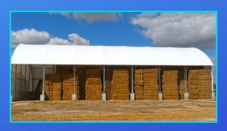 Easy access hay barn