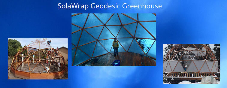 Geodesic greenhouse SolaWrap-1