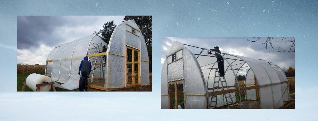 Greenhouse build with SolaWrap 10 Yr U. V. Warranty