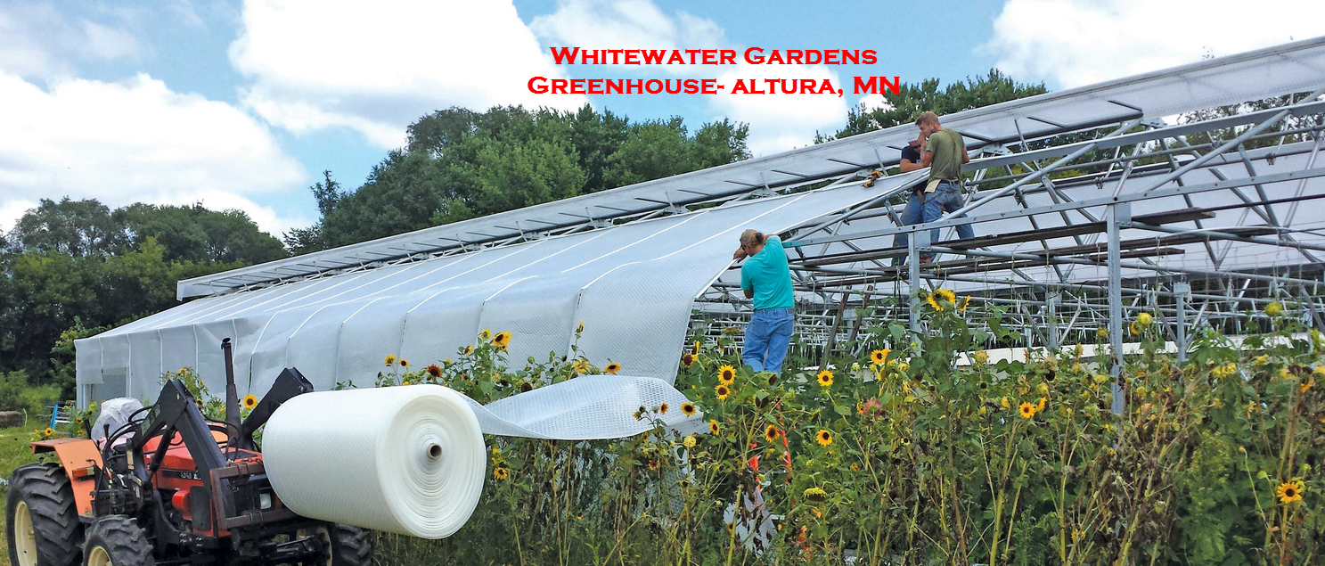 Installation of Greenhouse Plastic- Rolls of greenhouse covering for greenhouse