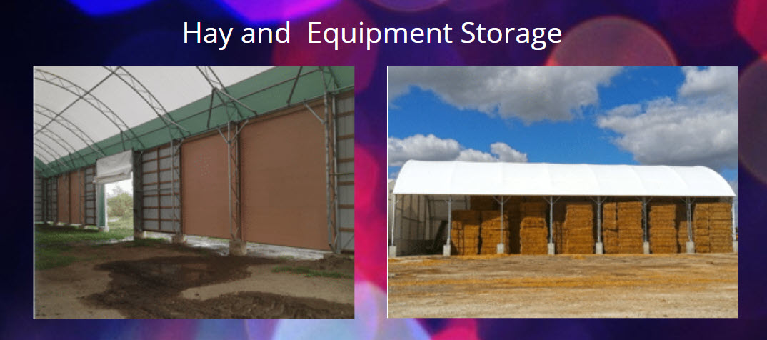Hay and equipment storage