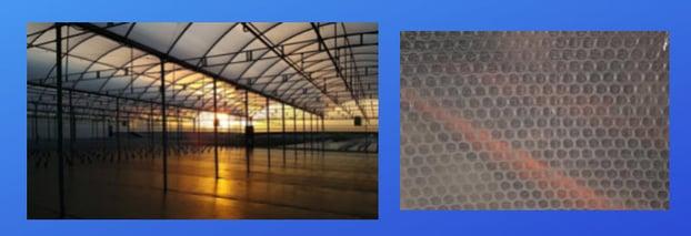 Heavy duty clear plastic sheeting SolaWrap Greenhouse film