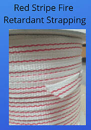 Red stripe fire retardant strapping