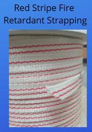 Red stripe fire retardant strapping