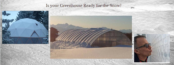 SNOW #GREENHOUSEPLASTIC  SOLAWRAP