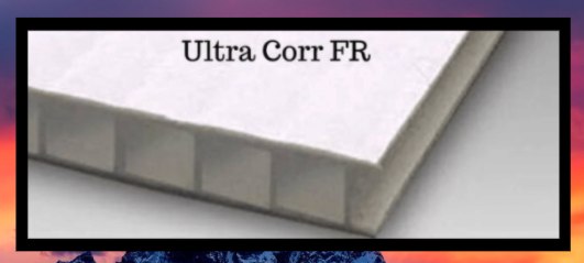 Ultra Corr FR White Corrugated Plastic FR sheet