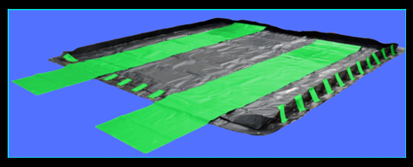 """Ultra-Containment """"All-in-One"""" Containment Berm Call 760 597 9298 Global Plastic Sheeting"""