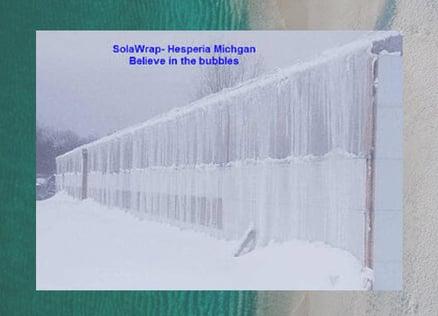 SolaWrap bubble greenhouse plastic in Snow