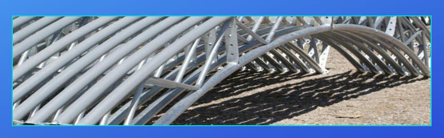 Steel trusses fabric buildings