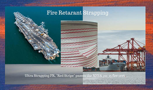 Strapping Fire retardant Red Stripe