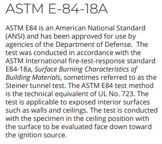 ASTM E-84-18A  FR corrugated plastic sheets