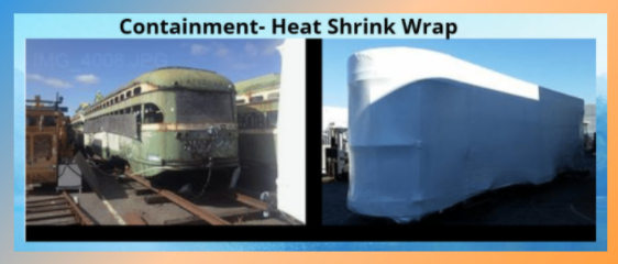 Heat Shrink Wrap. Containment Plastic Sheeting
