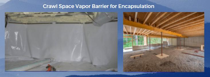 Crawl Space Vapor Barrier for encapsulation