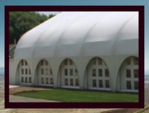 Fabric building event center, Hospitality