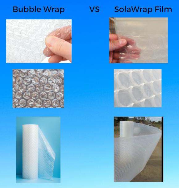 Bubble wrap vs SolaWrap Bubble Film