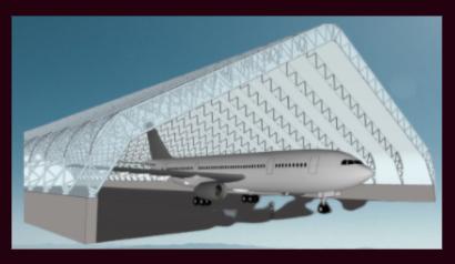 Aviation storage fabri building