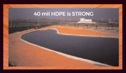 40 mil HDPE liner/geomembrane