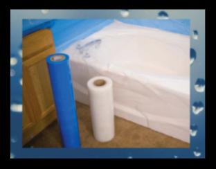 Tub and Shower Plastic- Self-Adhesive 8 mil