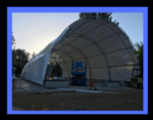 Part SolaWrap Greenhouse Fabric Building