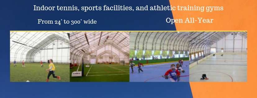 Indoor sports fabric structure