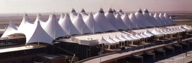 Tension fabric building Denver Airport