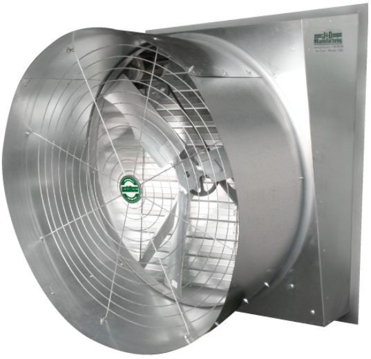 Greenhouse Fan Slant Wall