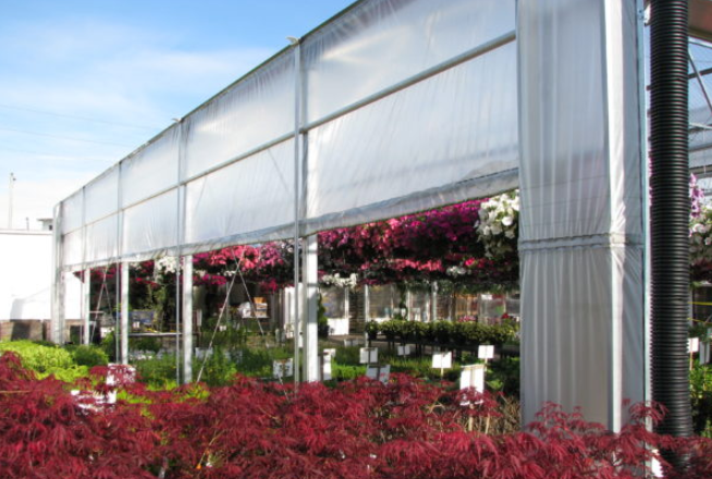 Greenhouse Roll up curtain double bar